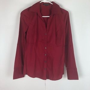 Women's button down, Red, Express, size Med